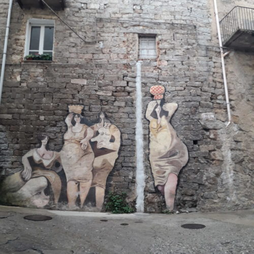 Ladies on the walls of Orgosolo