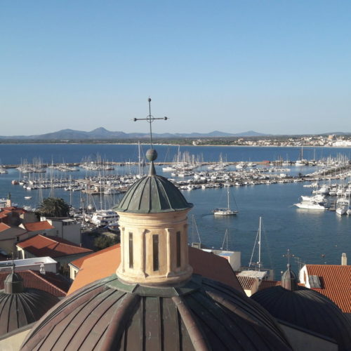 View on Alghero harbour